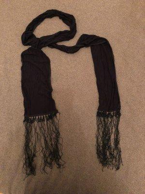 Mexx Sjaal met franjes zwart