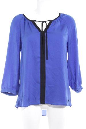 Mexx Schlupf-Bluse blau-schwarz Casual-Look