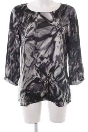 Mexx Slip-over blouse donkerblauw-wit batik patroon elegant