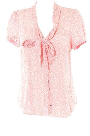 Mexx Stropdasblouse roze-wit gestippeld patroon zakelijke stijl