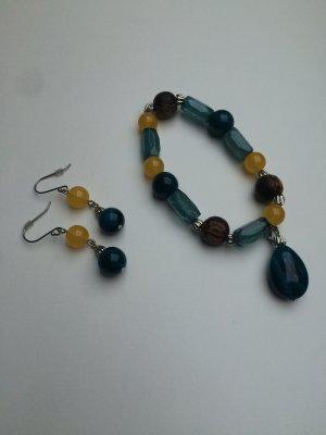 Mexx Schmuckset Ohrringe und Armband mit Steinen neu!