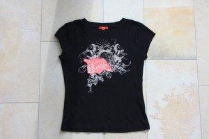 Mexx schwarzes Tshirt mit Rockprint, GESCHENKAKTION BEACHTEN!