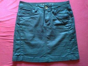 MEXX schwarzglänzenden Jeans-Minirock aus gewachstem Stretch Gr. 36