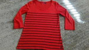 Mexx Camisa acanalada rojo-azul oscuro