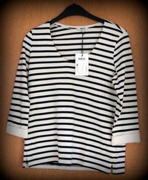 Mexx T-shirt rayé noir-blanc coton