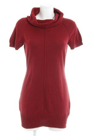 Mexx T-shirt jurk donkerrood simpele stijl