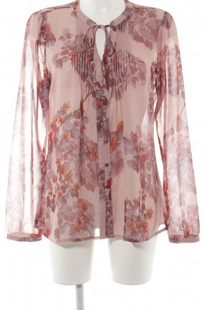 Mexx Shirt Tunic dusky pink-mauve floral pattern casual look
