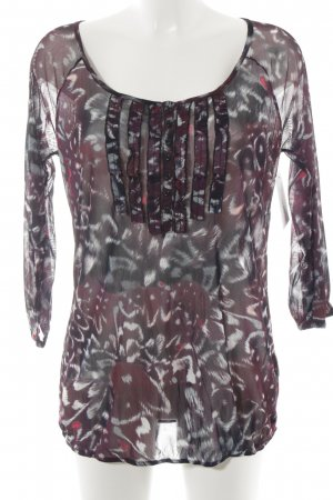 Mexx Shirt Tunic blackberry-red-petrol allover print casual look