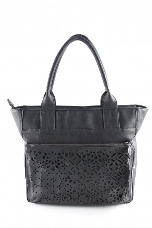Mexx Shopper zwart abstract patroon casual uitstraling