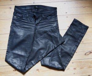 Mexx Skinny Beschichtet Leder Denim Schwarz XS 34 36 W26