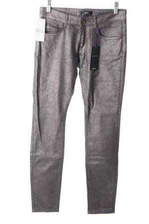 Mexx Skinny Jeans schwarz-silberfarben Schimmer-Optik