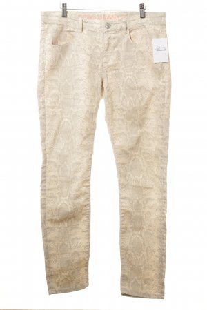 Mexx Slim Jeans hellgrau-nude abstraktes Muster Casual-Look