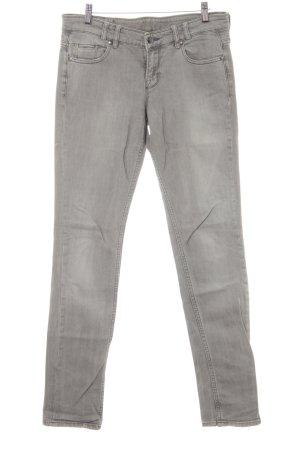 Mexx Jeans slim gris clair style délavé