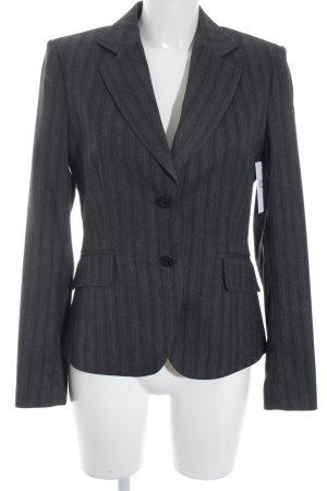 Mexx Blazer de esmoquin gris oscuro raya diplomática estilo «business»