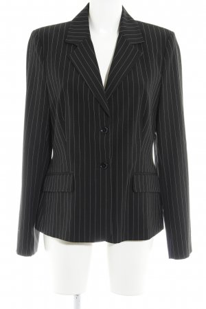 Mexx Blazer de esmoquin negro-blanco estampado a rayas estilo «business»