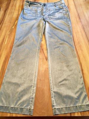 Mexx High Waist Trousers grey cotton