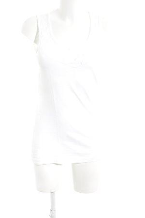 Mexx Top di merletto bianco stile casual
