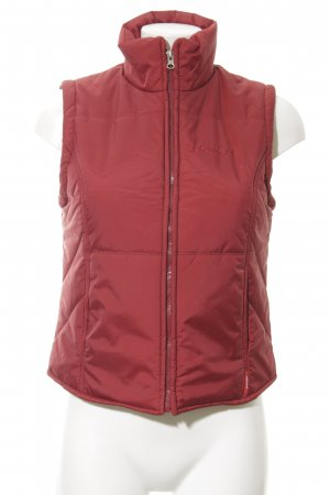 Mexx Quilted Gilet dark red casual look