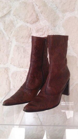 MEXX Stiefelette | Neupreis: 119,90€ | geprägtes Leder, braun