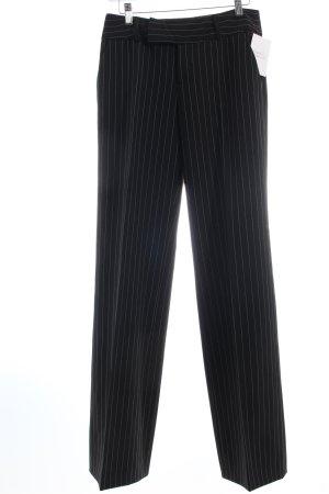 Mexx Stoffhose schwarz Nadelstreifen Business-Look