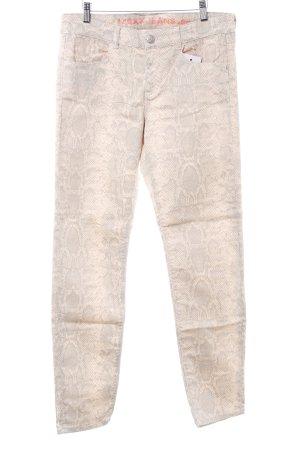 Mexx Straight-Leg Jeans nude-hellgrau Animalmuster Reptil-Optik