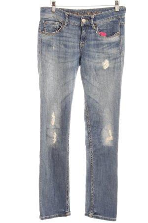 Mexx Straight-Leg Jeans stahlblau-blassblau Farbverlauf Casual-Look