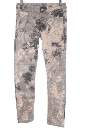 Mexx Stretch broek prints met verf effect casual uitstraling