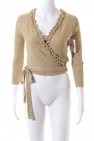 Mexx Strickjacke goldfarben Casual-Look