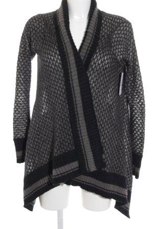 Mexx Strickjacke grau-dunkelgrau Punktemuster Street-Fashion-Look
