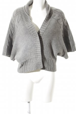 Mexx Strickjacke grau Webmuster Casual-Look