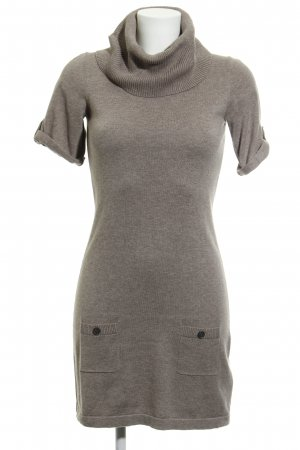 Mexx Strickkleid hellbraun meliert Casual-Look