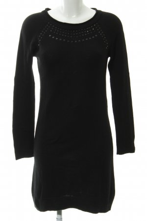 Mexx Strickkleid schwarz Business-Look