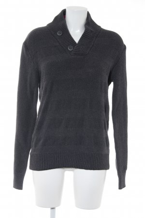 Mexx Strickpullover anthrazit Webmuster Casual-Look