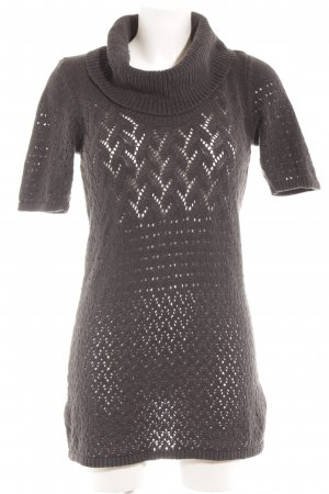 Mexx Knitted Sweater dark grey loosely knitted pattern casual look