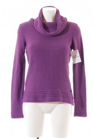 Mexx Strickpullover lila Casual-Look