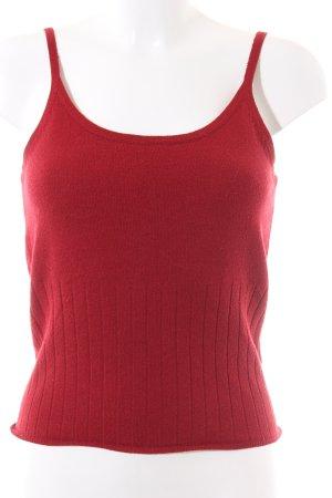 Mexx Top lavorato a maglia rosso stile casual