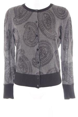 Mexx Knitted Vest black-grey monogram pattern elegant