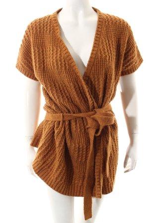 Mexx Cache-cœur en tricot orange doré molletonné