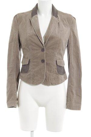 Mexx Blazer de tela de sudadera beige-gris estilo «business»