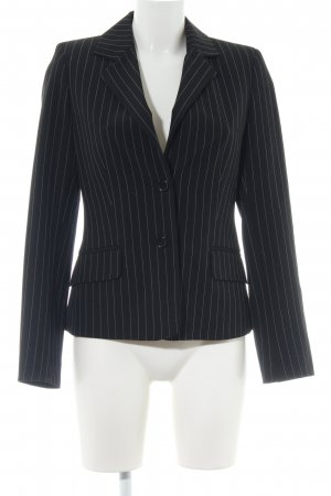 Mexx Sweatblazer schwarz Streifenmuster Business-Look