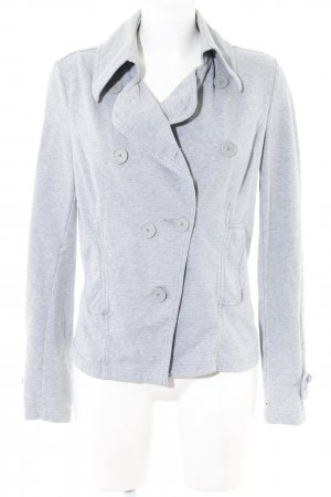 Mexx Sweatjacke hellgrau meliert Business-Look