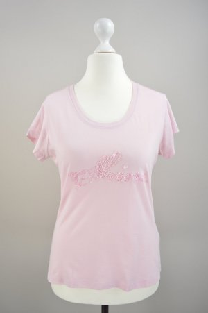Mexx T-Shirt mit Pailletten pink Größe M