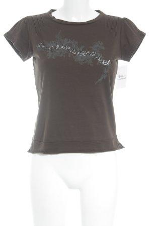 Mexx T-Shirt olivgrün-grau Motivdruck Casual-Look
