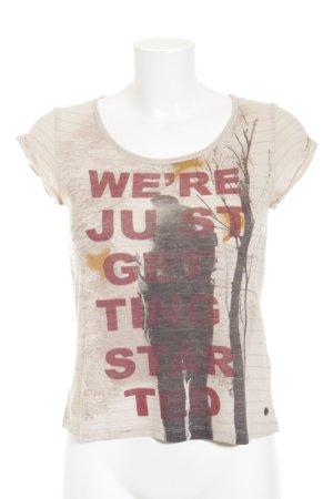 Mexx T-Shirt Schriftzug gedruckt extravaganter Stil