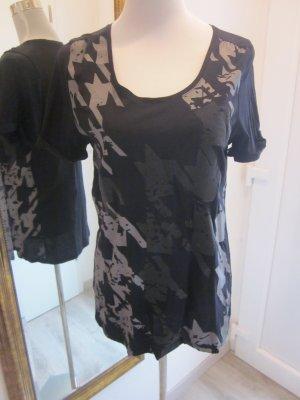 Mexx T Shirt schwarz grau gemustert Gr M