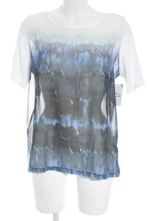 Mexx T-Shirt wollweiß-blau schlichter Stil