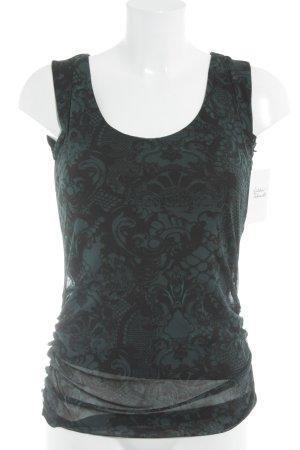 Mexx Tanktop schwarz-dunkelgrün abstraktes Muster Casual-Look