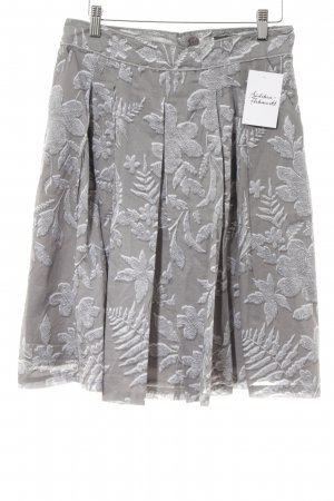 Mexx Circle Skirt grey-white floral pattern casual look