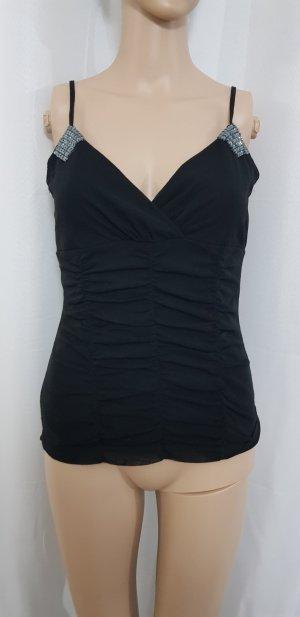 mexx top shirt oberteil schwarz