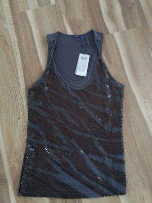 Mexx Top Shirt Pailletten Silvester Gr. XL 40-42 Neu mit Etikett